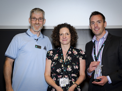 Left to right: James Alty (Apteco), Sarah Robertson (R-cubed) & Brian Corby (P&O Ferries)