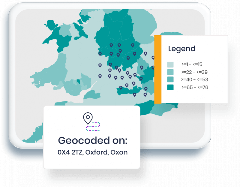 Map representing targeting and analysis